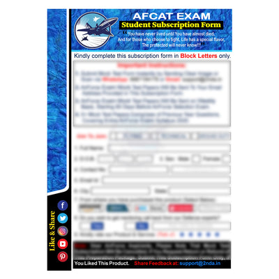 AFCAT Exam (Air Force) Test Series 2021: Sure Shot Test Series 1 to 5