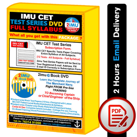 IMU CET Test Series 2021
