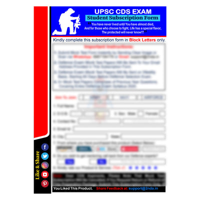CDS Exam (For IMA, OTA & Air Force) Test Series 2021: Sure Shot Test Series 1 to 5