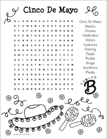 Cinco De Mayo Printable Wordsearch Free Puzzle