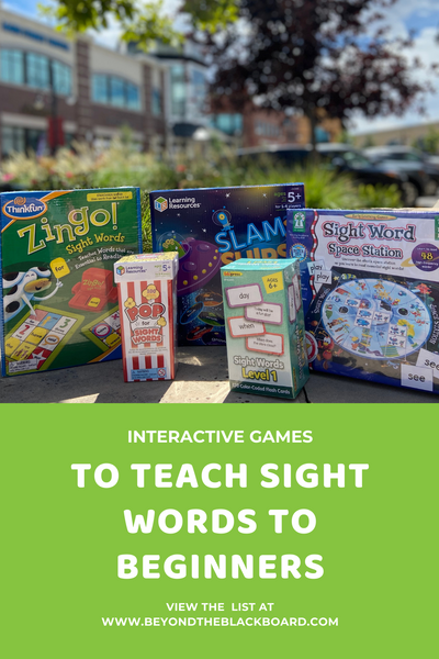 Interactive Games to Teach Sight Words to Beginners