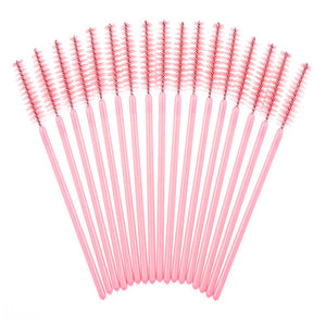 50pcs/pack Colorful Brushes Mascara Wands for Eyelash Extension Disposable Brush Wand Eyelash Mini Brush Makeup Tool