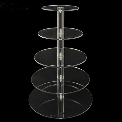 Acrylic Cake Stand Round Cup Holder