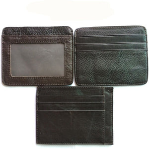 Genuine Leather Men Wallets Purse Money Bag