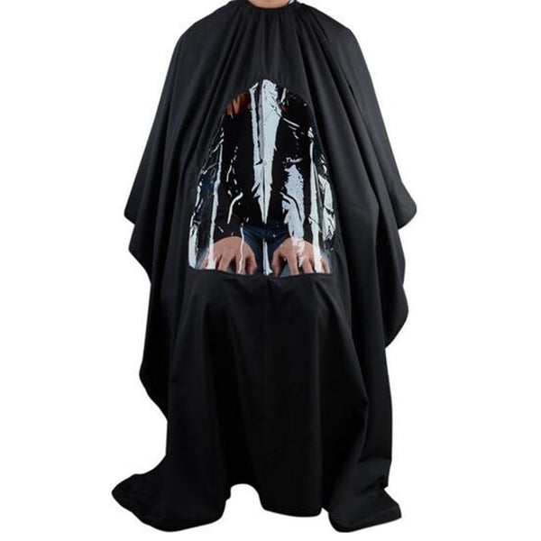 Salon Cape Gown Apron With Mobile Phone Viewing Window