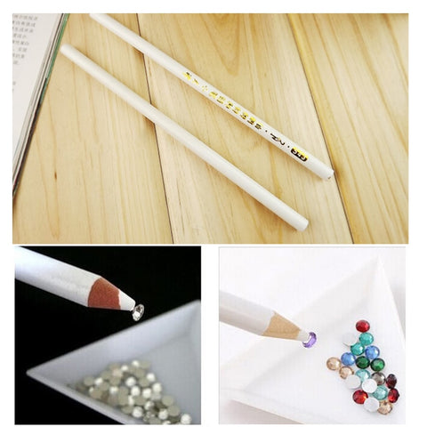 Wax Dotting Pen Nail Art Rhinestones Gems