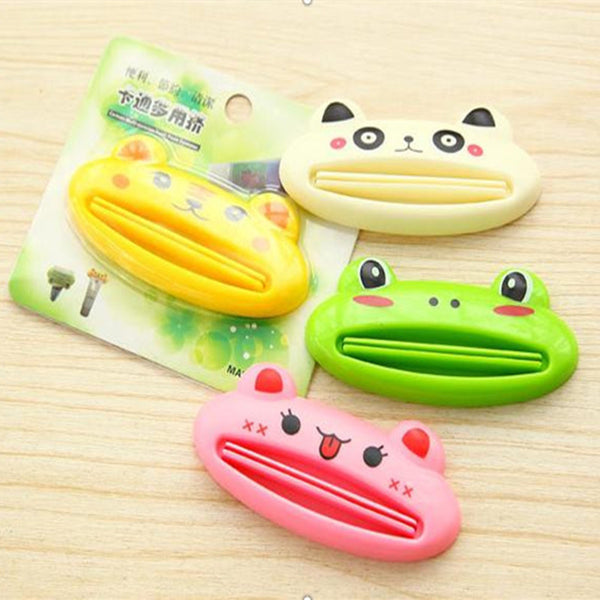 1Pcs Cute Cartoon Animal Toothpaste Tube Squeezer Squeeze Paste Dispenser Roll Holder