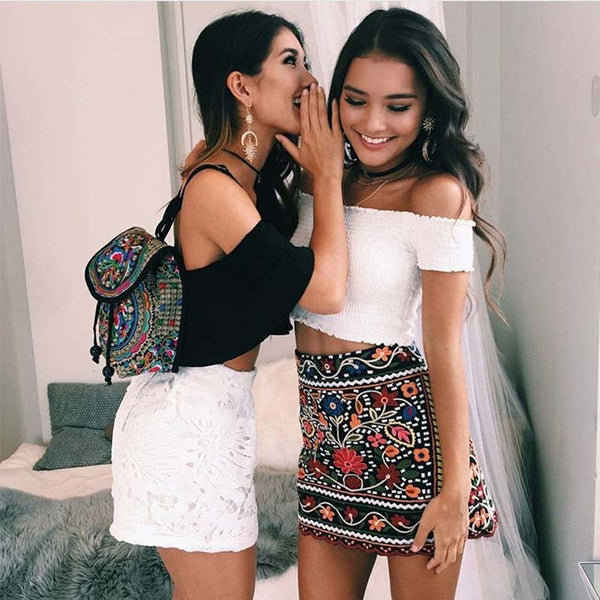 Women Sexy Bare Shoulder Tops Black White Pink Summer Casual Short Sleeve Women Tank Top for Party Slim Fit Tee Shirt