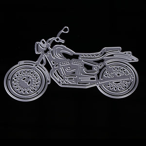 Motorcycle Metal Cutting Dies Stencils Scrapbooking