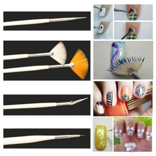Professional Portable Nail Art Brush Set