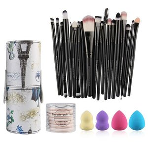 Makeup Brushes Foundation Powder Eye Shadow with Cylinder Box