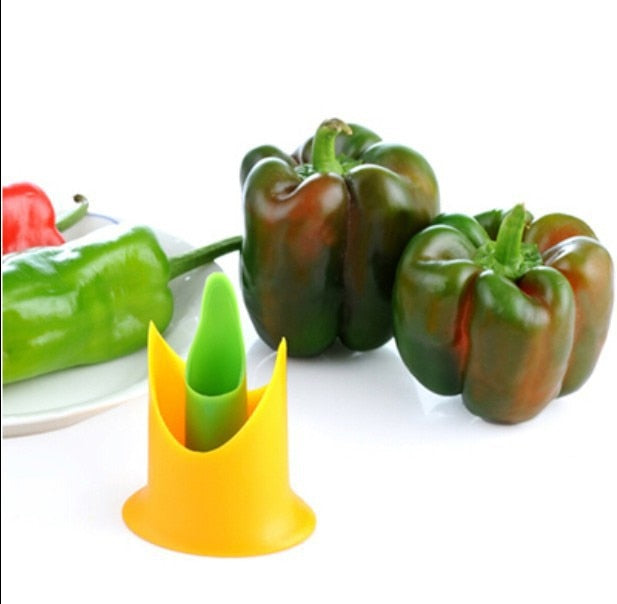 Pepper Chili Tomato Cutter Corer Slicer Fruit Vegetable Peeler Kitchen Utensil Gadget Healthy Stem Leaves Huller Remover