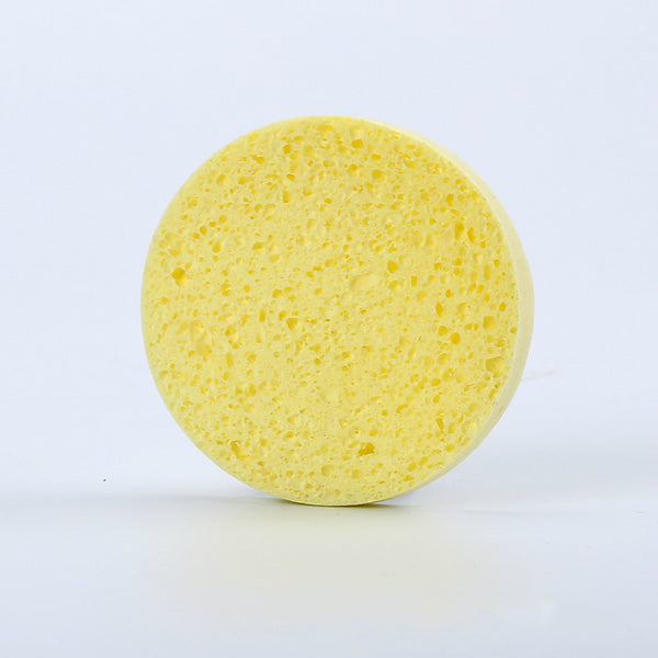 4pcs Natural Wood Fiber Facial Puff Face Cleanse Washing Sponge Exfoliator Cleansing Sponge Puff Facial Cleanser