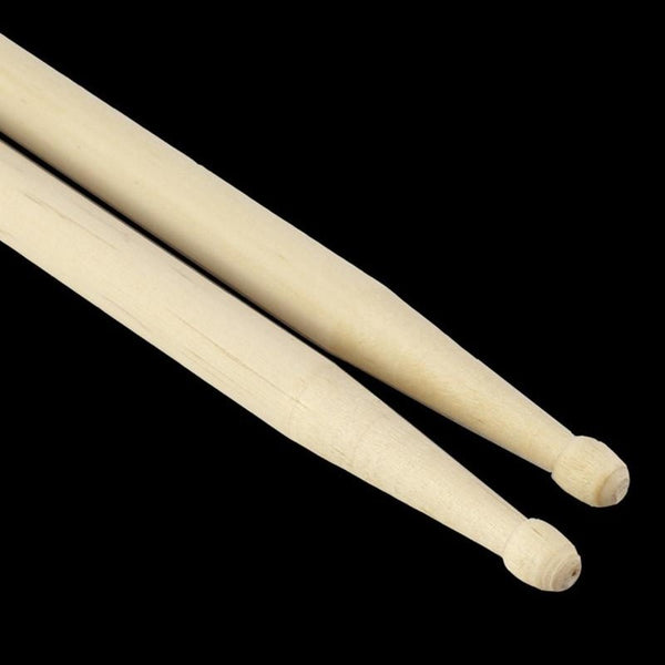 1Pair Lightweight Endearing Music Band Maple Wood Oval Tip Drum Sticks 5A