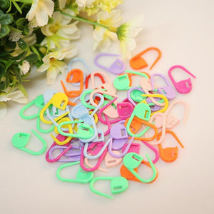 50Pcs/set Colorful Plastic Knitting Needles Crochet Locking Stitch Markers Crochet Hook Latch Knitting Clip Sewing Tools