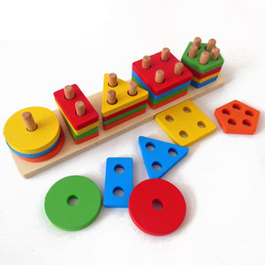Early Childhood Education Wooden 3D Geometry Shape