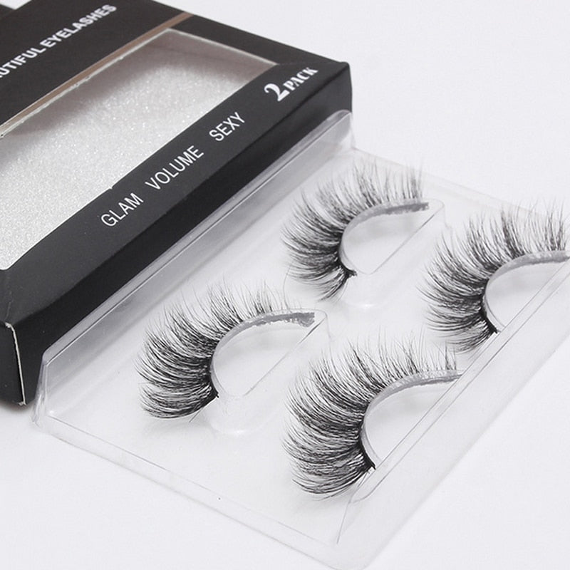 2Pair 3D Mink EyeLash Extension
