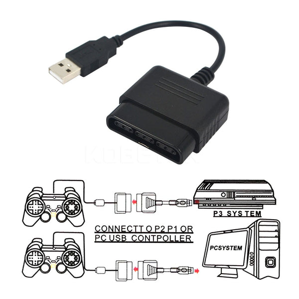 Hight Quality For Sony PS1 PS2 Play Station 2 Joypad GamePad to PS3 PC USB Games Controller Adapter Converter without Driver