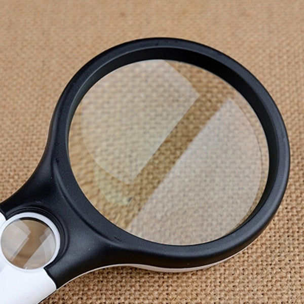 1pcs 10X 20X 3 LED Light Handheld Magnifier Reading Map Newspaper Magnifying Glass Jewelry Loupe Reading Book Tool Equipments