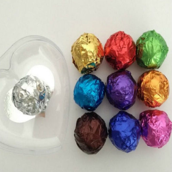 100pcs/lot Foil Candy Package 10 Colors Chocolate Aluminum Candy Food Tin Joyful DIY Baking Foil Package Paper
