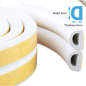 Useful Self Adhesive D9*6 Type Doors and for Windows Foam Seal Strip