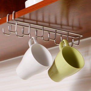 Stainless Steel Kitchen Storage Rack Cupboard Hanging Hook