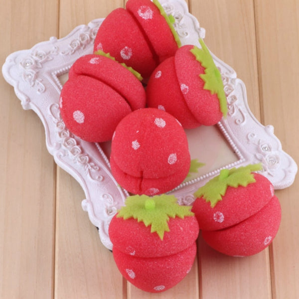 6pcs Strawberry Balls Rollers Curl Hair
