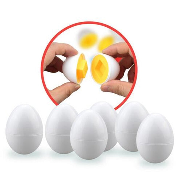 6pcs/set Essential Egg Learning Education toy for Baby