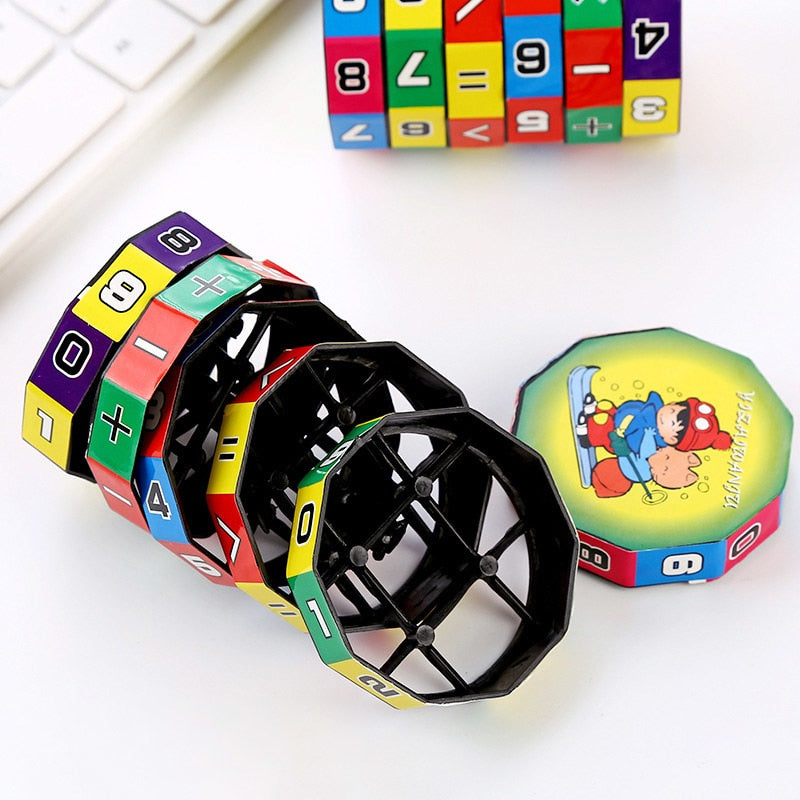 Slide Puzzles Mathematics Numbers Magic Cube Toy Children Kids Learning And Educational