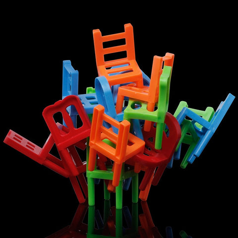 18Pcs Mini Balance Chairs Board Game Children Kids
