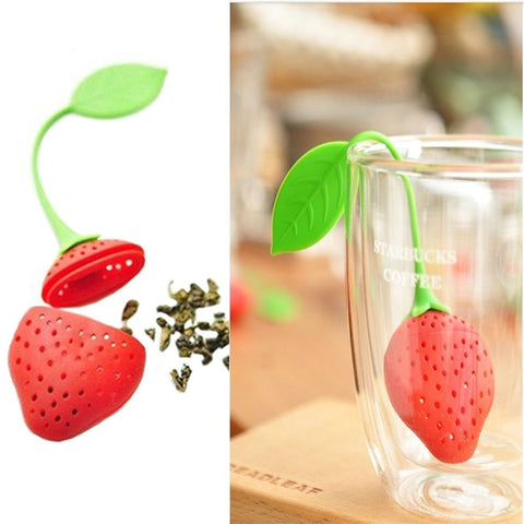 Silicone Strawberry Tea Infuser Teabag