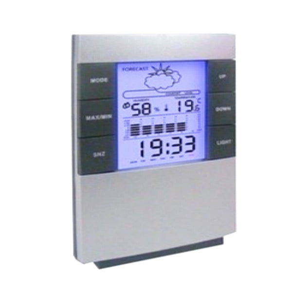 Household Digital LCD Display Hygrometer Thermometer Temperature Humidity Meter Calender Clock Alarm