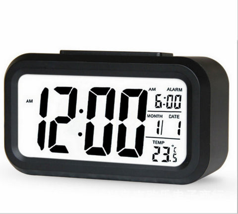 Battery Digital Alarm Clock Light Sensor