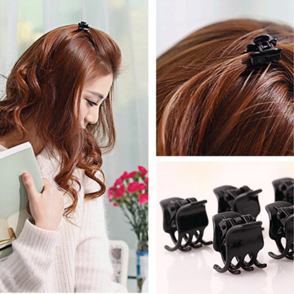100pcs/Bag Black Hair Clips Clipper Clamp For Women Ladies Plastic 6 Claws Hairpin Hair Styling Tools Hair Clips