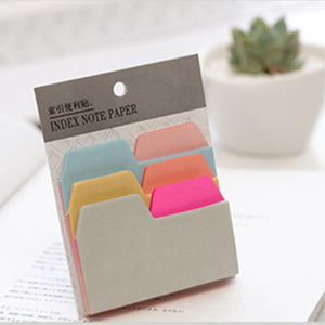 1 Set 6 Colors 90 Sheets Writable Index Note Paper Sticky Notes