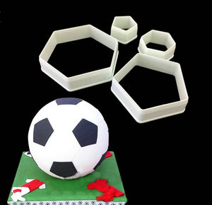 Football plastic fondant cutter cake mold