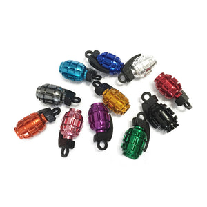 Bicycle Accessories For a Bike Colorful Grenade Alloy Valve Caps