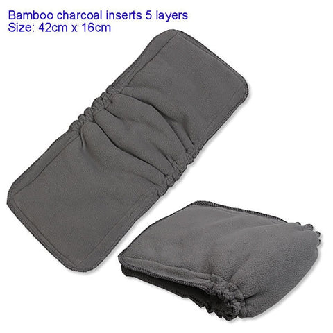 Thickened Reusable Bamboo Charcoal Insert Double Gussets