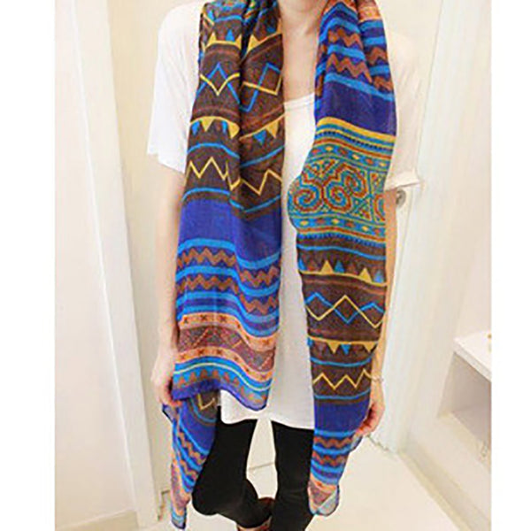 New Fashion Trendy Bohemian Women's Long Print Scarf Wrap Ladies Shawl Girl Large Pretty Scarf Tole Styles Printed Scarf