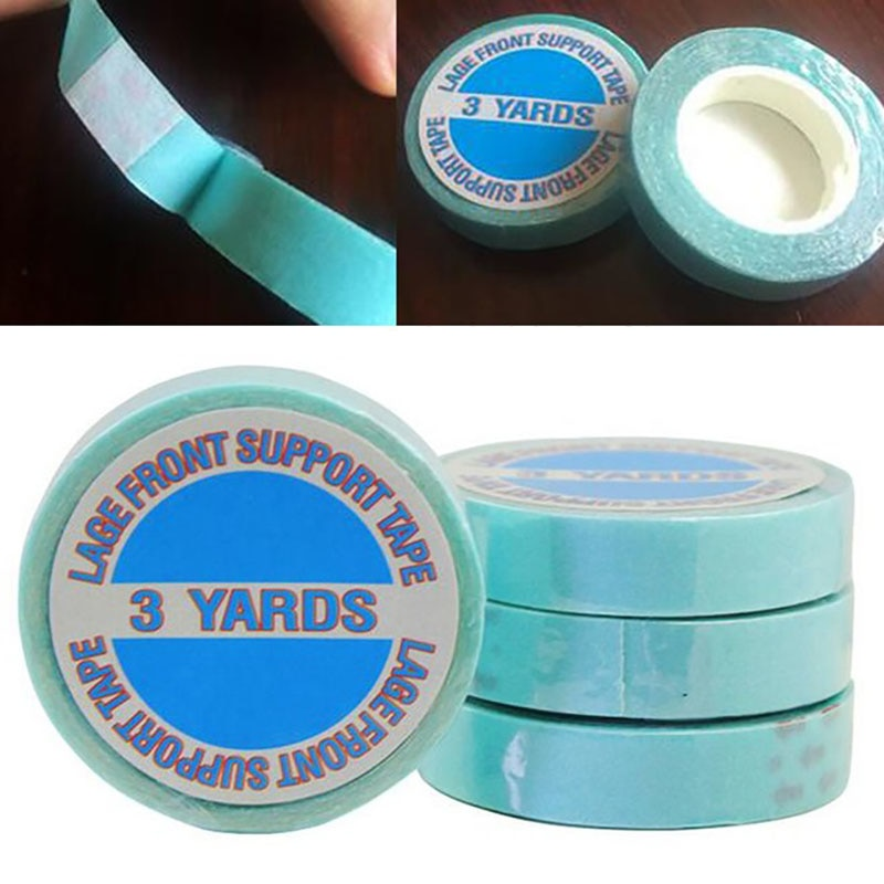 1 Roll 1cm 3 Yards Hair Tape Double-sided Adhesive Water-proof