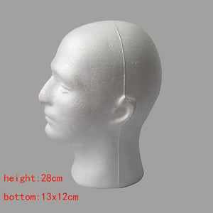 Male Mannequin Foam Manikin Training Head Model Wig
