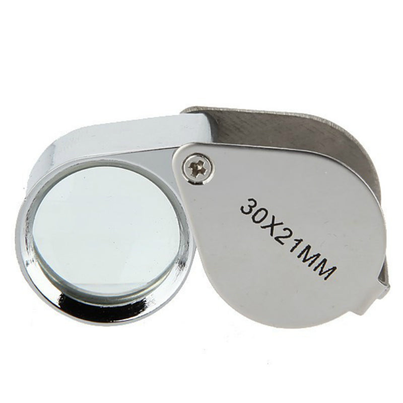 1Pc New Mini 30x Jewelry Diamond Jewelry Loupe Magnifier Tool Eye Magnifier Magnifying Glass Equipments