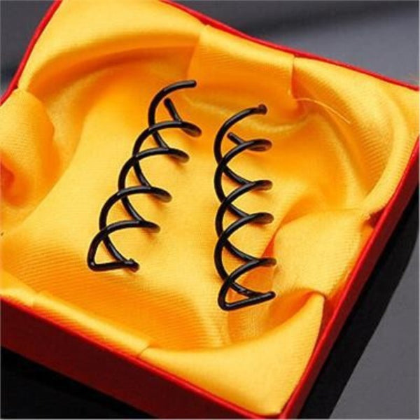 10Pcs/5Pairs Spiral Spin Screw Bobby Pin Hair Clip Twist Braiders Barrette Black Hairpins Hair Braider Styling Accessories