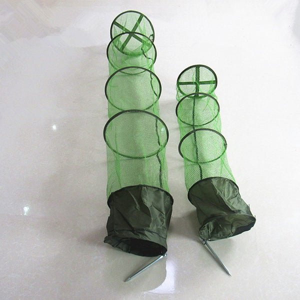 5 Layers Collapsible 1.5M Fish Shrimp Minnow Net Cage Fishing Tackle Care Creel Bait Trap Dip Net Cage