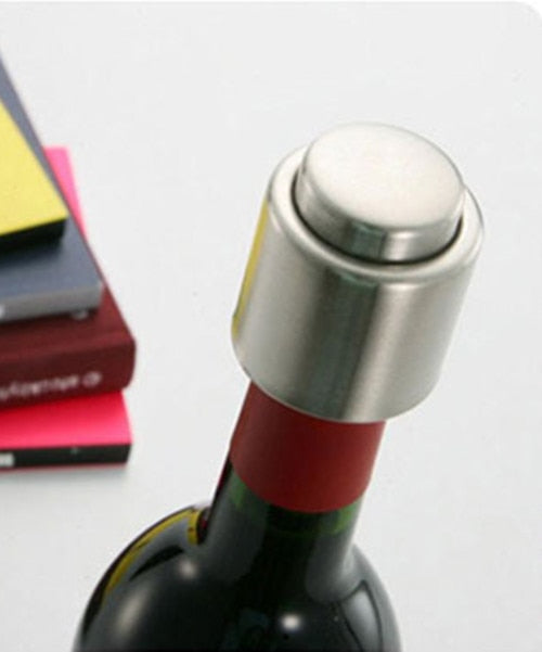 Stainless Steel Reusable Vacuum Sealed Champagne Red Wine Bottle Stopper Cap