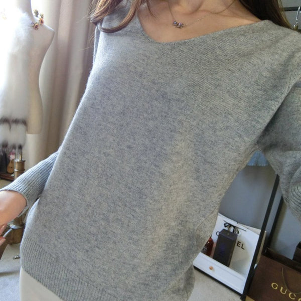 Spring Autumn Women Fashion Sweaters Sexy V-neck Sweater Loose Wool Sweater Batwing Sleeve Plus Size Pullover