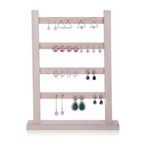 Solid Wood Earring Display Holder Ear Stud Earrings Display Frame Jewelry Display Holder Wood Jewellery Display Stand