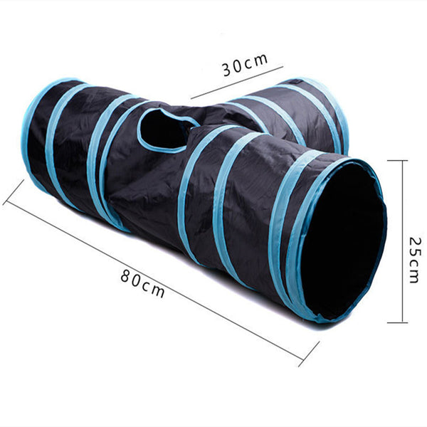 Foldable 3 Holes Cat Tunnel Toys Camp