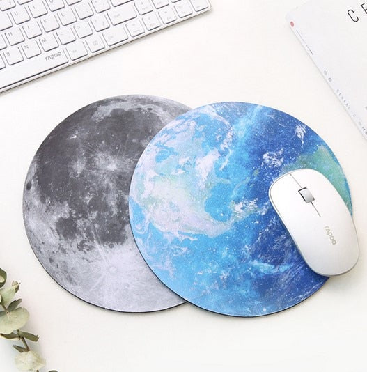 Round Shaped Planets Star Mouse Pad