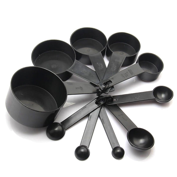 Silicone Black Measuring Cups And Measuring Spoon